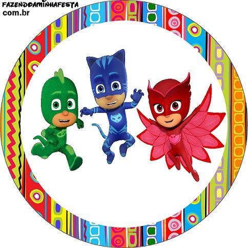 cotillon de pj masks heroes en pijamas para imprimir