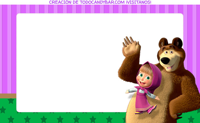 Tarjetas Masha y el oso invitaciones
