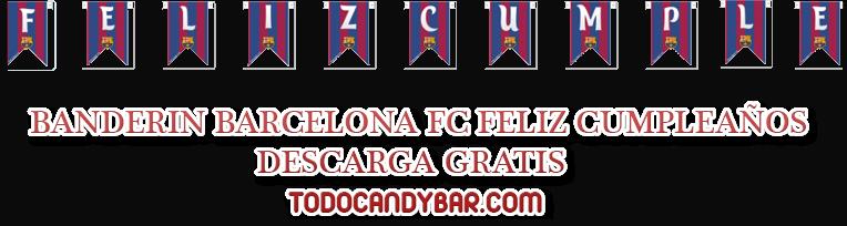 CANDY BAR BAARCELONA FC IMPRIMIR GRATIS