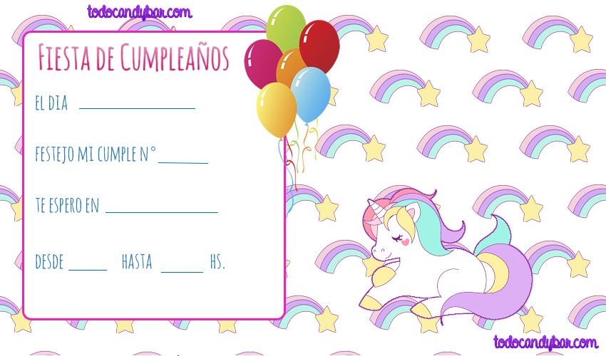 Candy Bar De Unicornios Para Descargar E Imprimir Gratis Todo