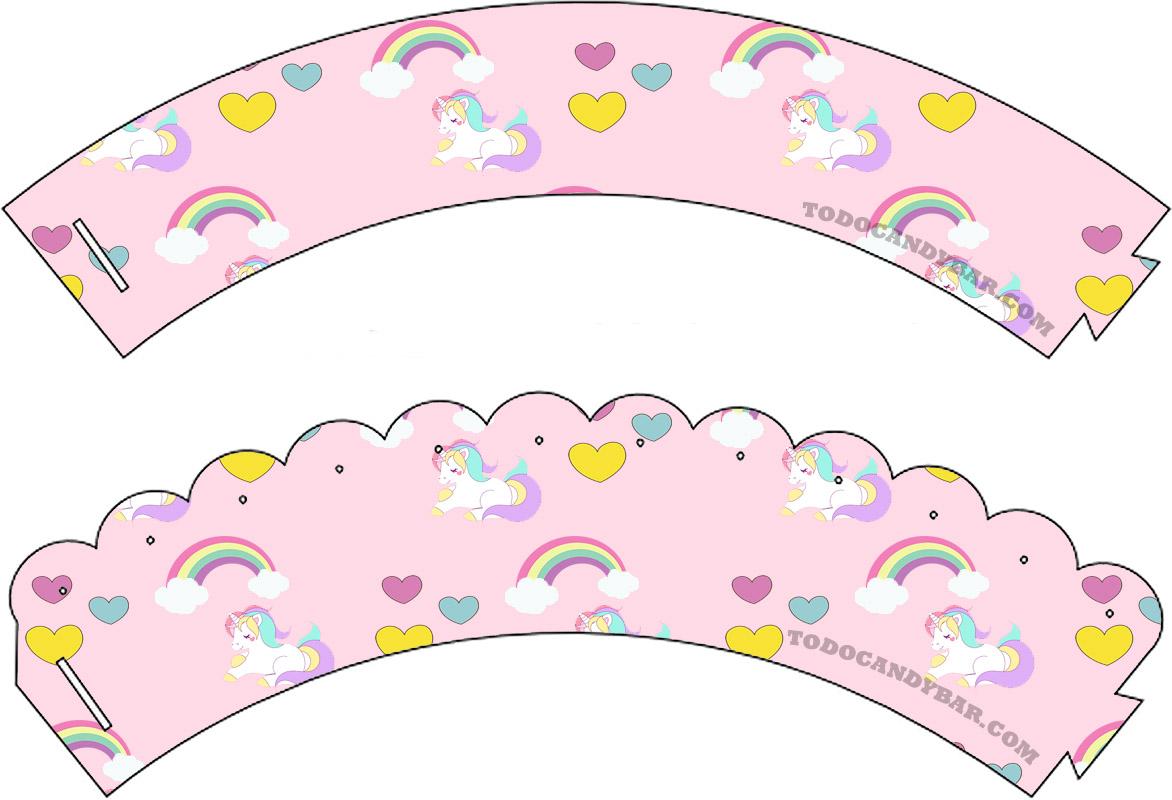Candy Bar de Unicornios Imprimibles Gratis   Todo Candy Bar