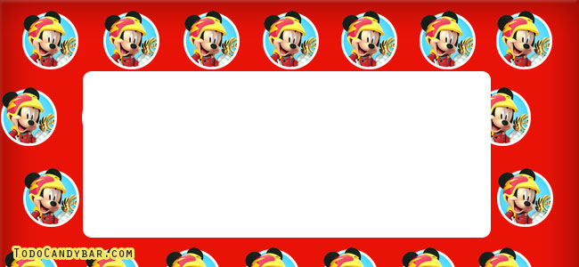 Mickey sobre ruedas kits imprimibles gratis