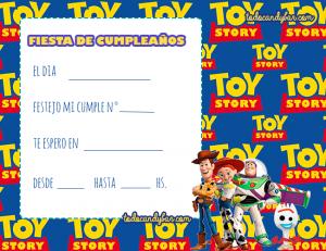 Tarjetas toy story 4 cumpleanos