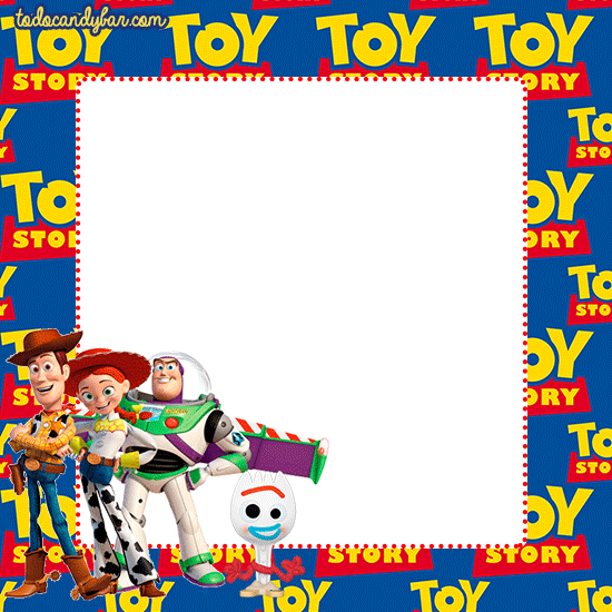 etiquetas toy story 4 invitaciones stickers