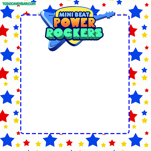 Mini Beat Power Rockers Stickers Etiquetas