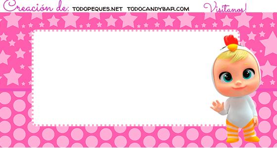 Stickers Candy bar bebes llorones para imprimir