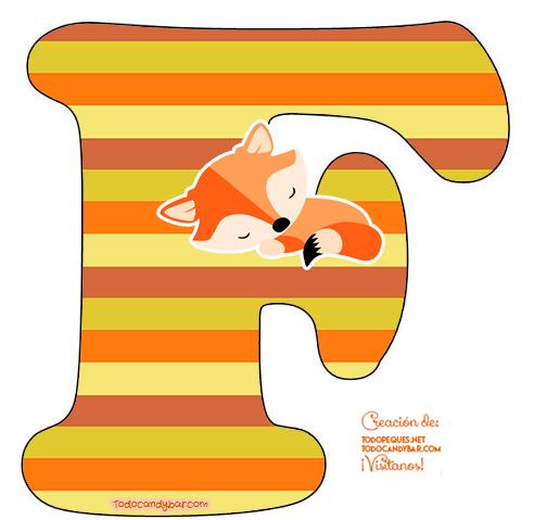 Little Fox Alphabet Letters little fox
