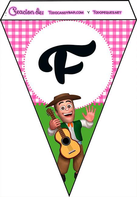Banderines de La Granja de Zenon para imprimir feliz cumple F