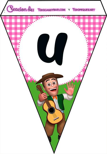 Banderines de La Granja de Zenon para imprimir feliz cumple u
