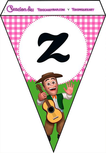 Banderines de La Granja de Zenon para imprimir feliz cumple z
