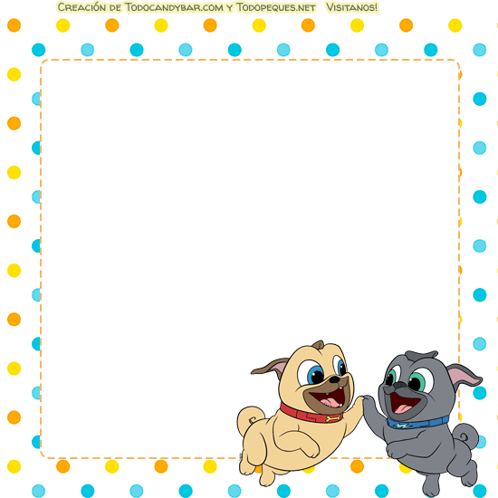 Puppy dog pals tarjetas invitaciones
