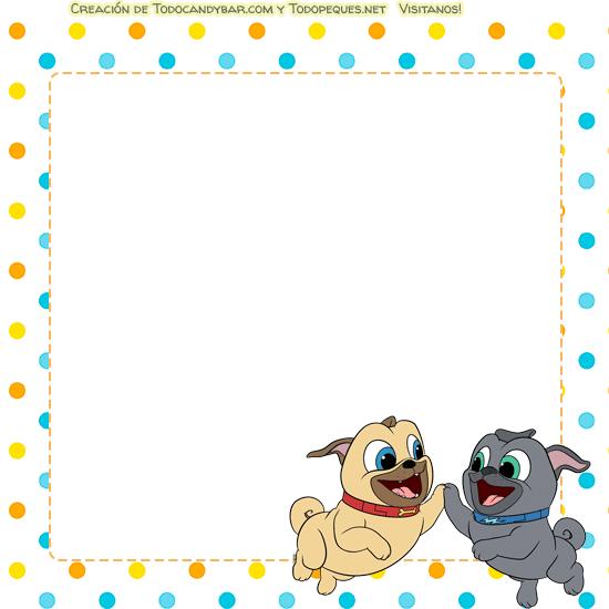 Puppy dog pals tarjetas invitaciones
