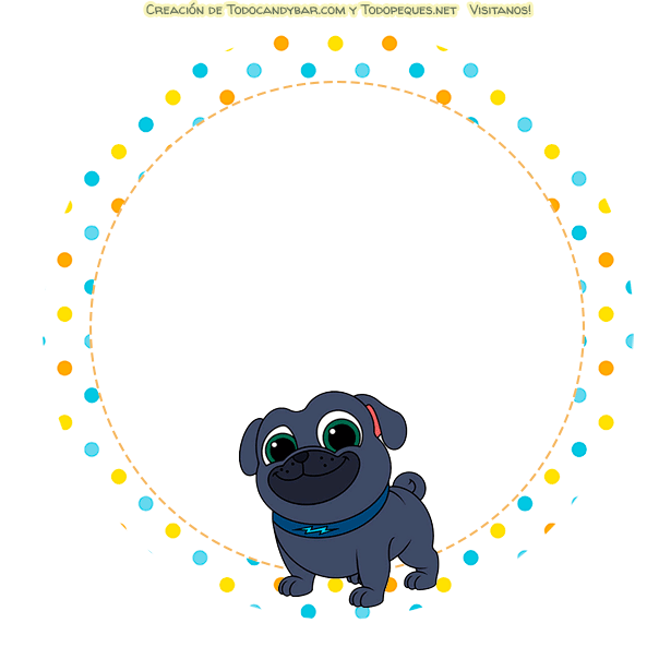Stickers Puppy Dog pals etiquetas