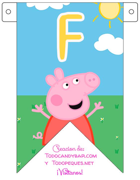 Banderines de Peppa Pig para descargar gratis