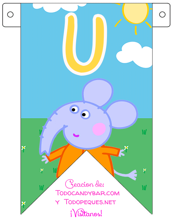 Banderines de Peppa Pig gratis