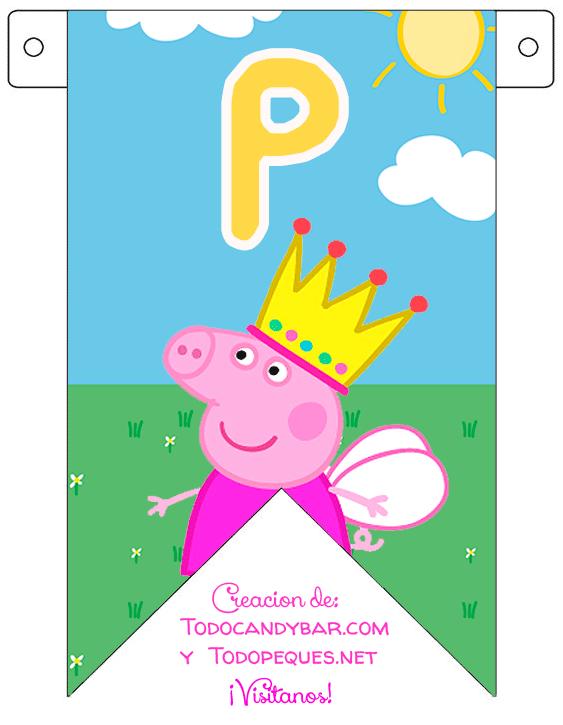 Peppa Pig Candy bar para Imprimir