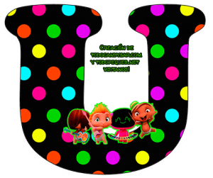 Mini Beat Power Rockers letras para imprimir