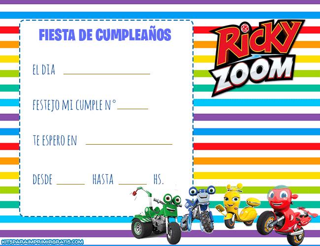 Invitaciones de Ricky Zoom Cumpleanos