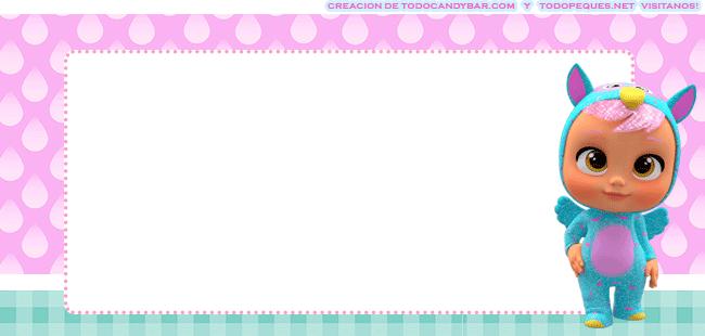 Tarjetas Bebes Llorones etiquetas stickers