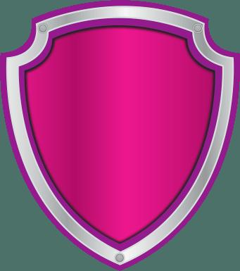 Escudo Paw Patrol logo rosa para editar