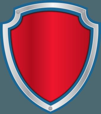 Escudo Paw Patrol para editar logo patrulla canina