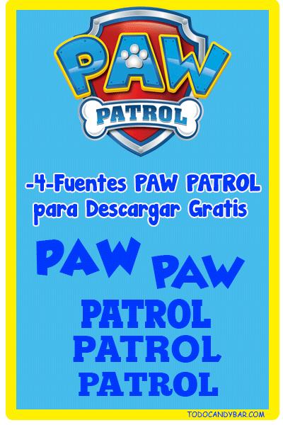 Paw Patrol fuente para logo