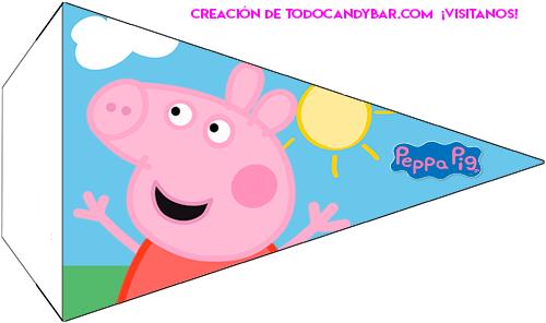 Banderines decoracion Peppa y George pig