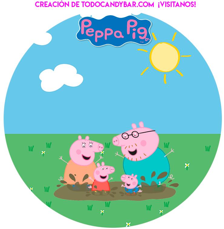 Birthday party Printables George y peppa Pig